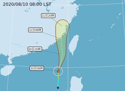 颱風路徑潛勢預報。圖/取自中央氣象局