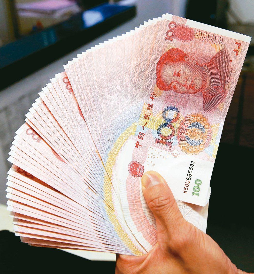 交通銀行台北分行預估,人民幣對美元中長期看漲趨勢不變。(本報系資料庫)