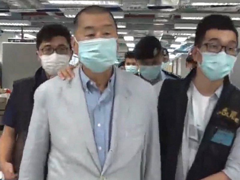 壹傳媒創辦人黎智英表示,不知道報社的前景,但無法擔心太多。(蘋果日報直播截圖)