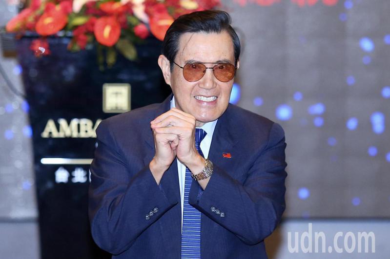 前總統馬英九下午出席台北扶輪社東區系統八社聯合例會,現場演講「兩岸關係與台灣安全」。記者林伯東/攝影