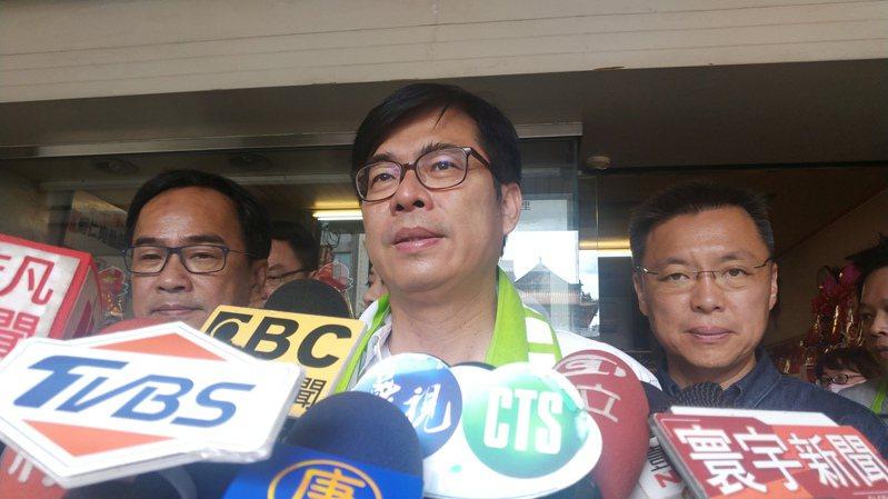 民進黨高雄市長補選候選人陳其邁。記者蔡孟妤/攝影