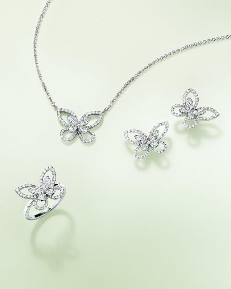 格拉夫推出全新蝴蝶幻影系列珠寶。圖/格拉夫提供