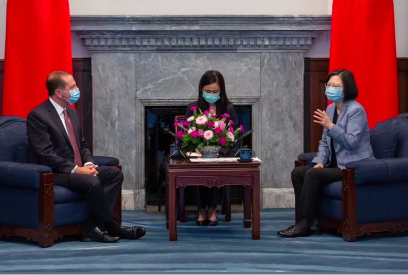 美衛生部:阿查爾與台灣總統蔡英文見面