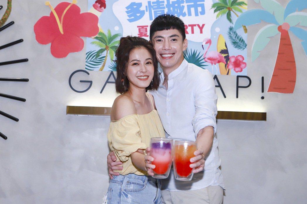 王凱(右)、蘇晏霈在近期的「多情城市」劇情中,經歷波折終於結婚。圖/民視提供