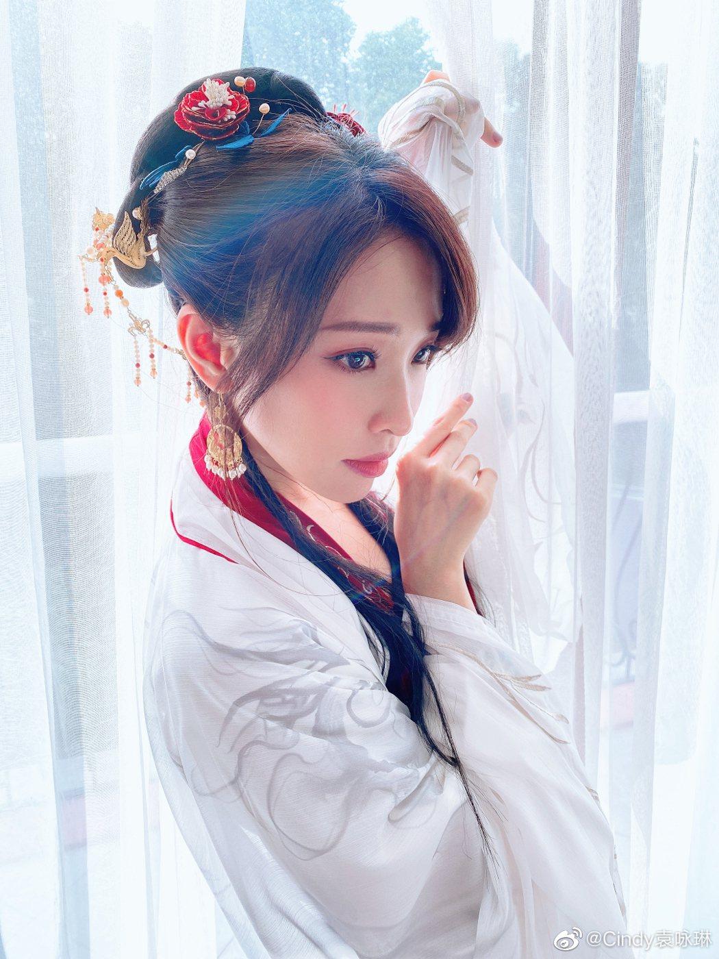 袁詠琳相當希望能拍古裝劇。圖/摘自微博