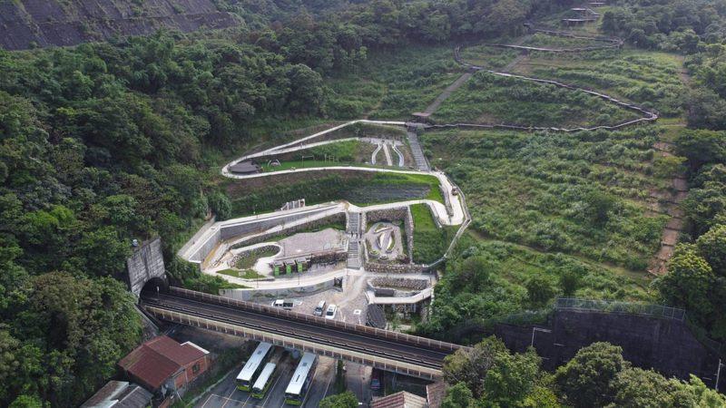 黎和生態公園空拍圖,非常壯觀。 圖/臺北市政府工務局大地工程處提供