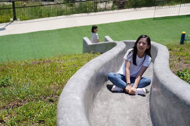 黎和生態公園的溜滑梯,很適合大小朋友遊憩。 圖/臺北市政府工務局大地工程處提供