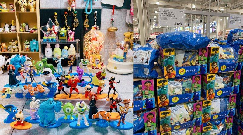 好市多「Pixar公仔驚喜包」每包659元,共有35入公仔。圖/FB Emita Han授權、FB「Costco好市多商品經驗老實說」古青平