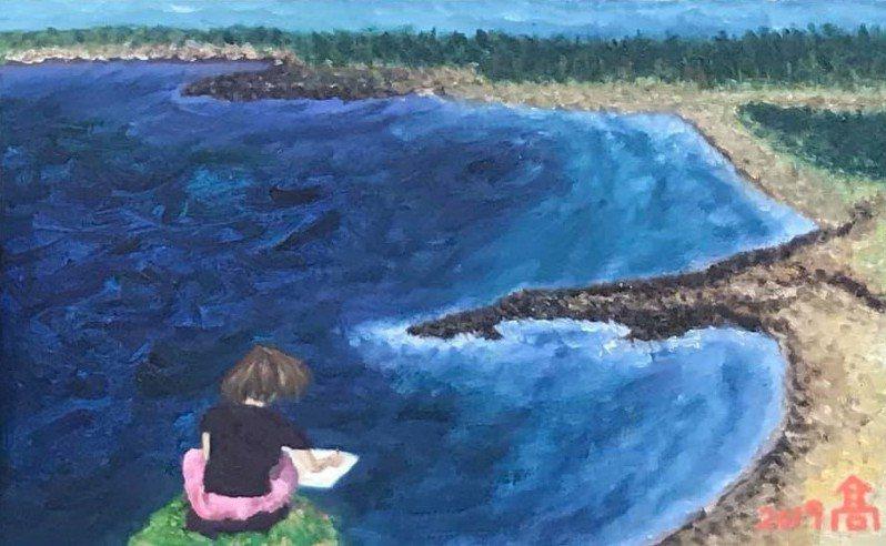 透過油畫創作,作者釐清自己的思緒,學會面對孤獨。擷自《我離婚了,所以我開始畫畫!》臉書