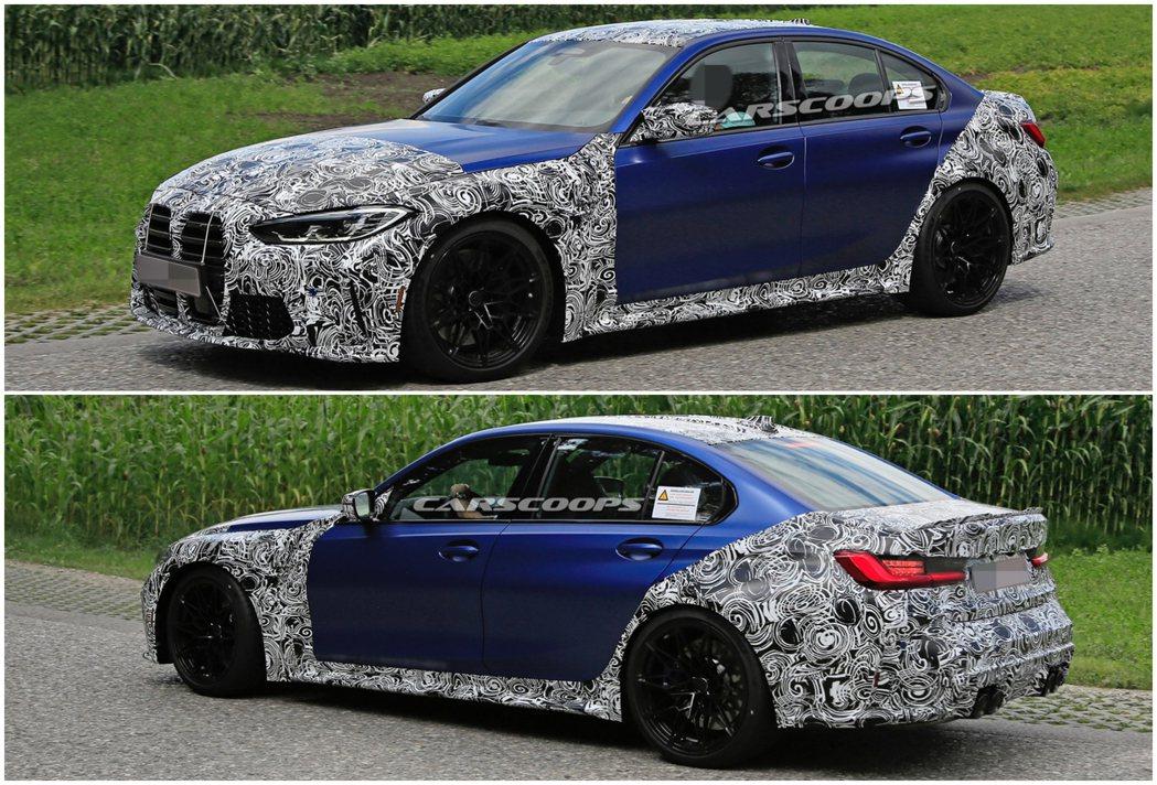 新世代BMW G80 M3預計將在九月正式發表。 摘自Carscoops