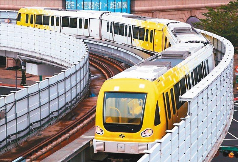 捷運環狀線第一階段於年初通車,但卻被網友質疑搭乘人數不如預期。 圖/聯合報系資料照片