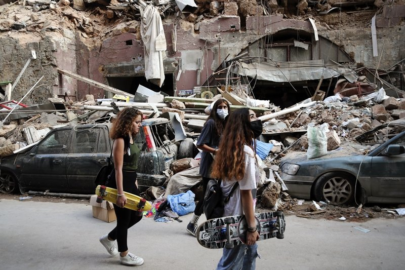 黎巴嫩內戰後已近30年,但仍未復甦,國家弊病叢生,圖攝於8月7日。 圖/美聯社