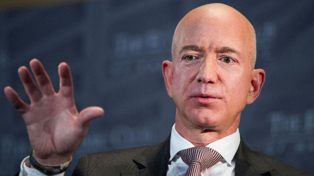 亞馬遜公司創辦人貝佐斯(Jeff Bezos)。 (美聯社)