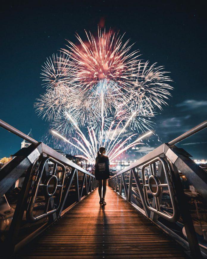 ▲七夕情人節活動-漁人碼頭煙火。(圖/攝影者:s.yin.h授權提供, Instagram)