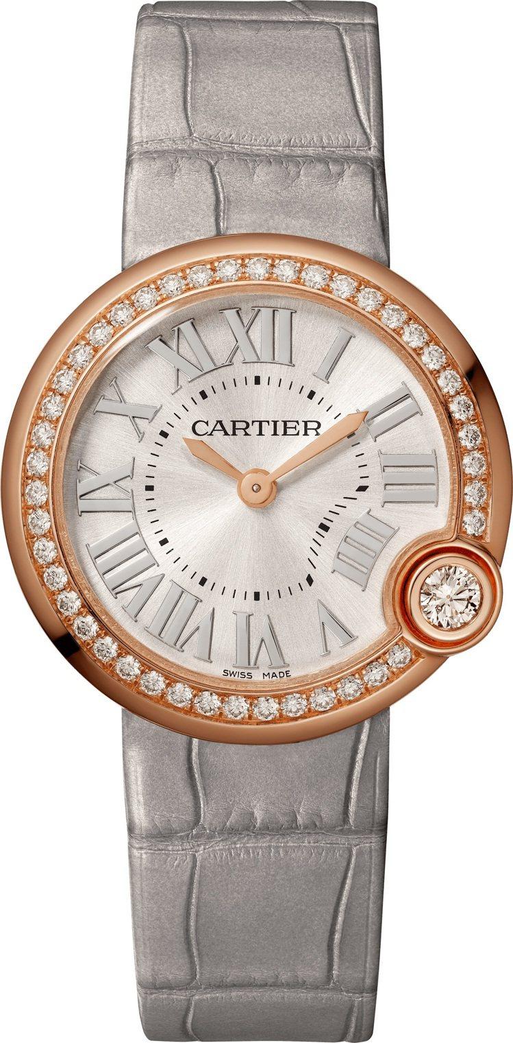 卡地亞Ballon Blanc de Cartier系列30毫米玫瑰 K金腕表,...