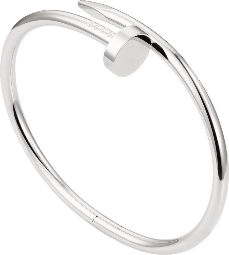 卡地亞Juste un Clou白金手環,22萬4,000元。圖/卡地亞提供