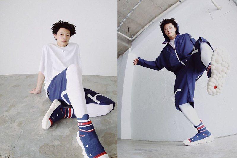 Mizuno跨足襪套式鞋款,推出二代RHRN ENERZY潮鞋。圖/摘自mizuno instagram