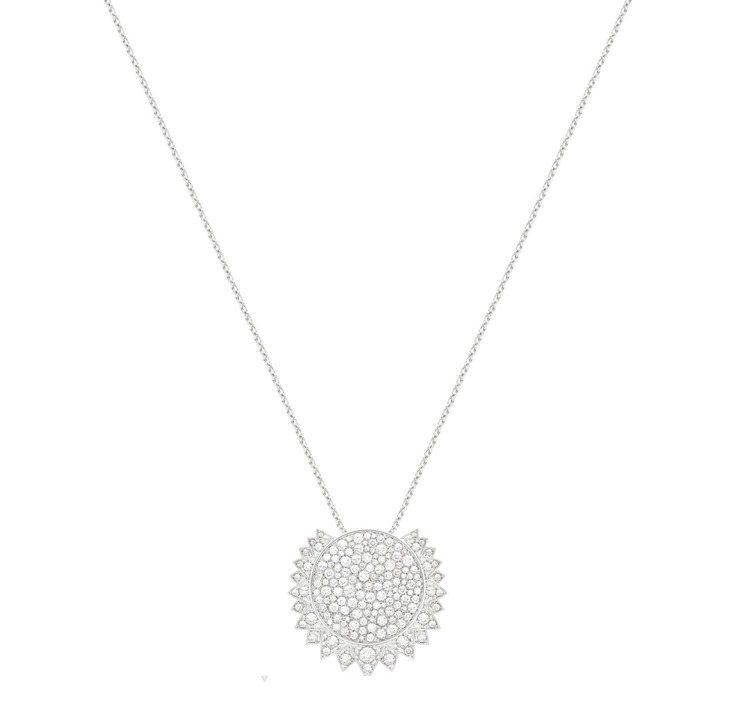 PIAGET,Sunlight 系列18K白金系列鑽石項鍊,159顆圓形明亮式切...