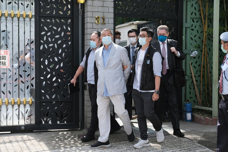 香港政府逮捕壹傳媒創辦人黎智英,引發言論自由疑慮。  彭博資訊