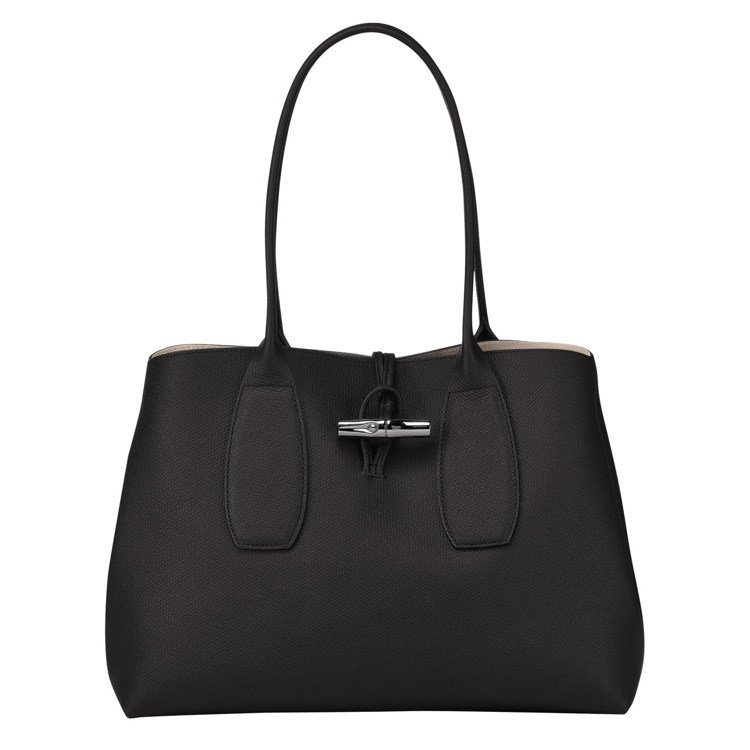 Roseau黑色購物袋,18,700元。圖/LONGCHAMP提供