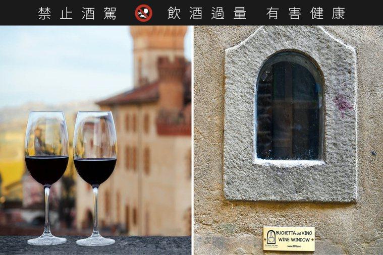 因應疫情,在義大利塵封已久的「遞酒窗」,重新被啟用。圖/摘自insider.co...