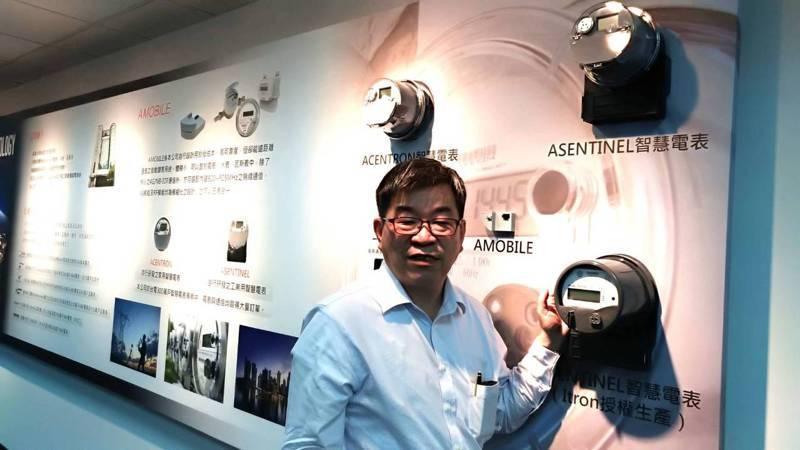 智慧電表大廠斯其大董事長吳端煇表示,現今智慧電表、通訊標訂單尚有7億元,預估下半年出貨金額上看6億元,成為台灣最大的智慧電表、通訊標業者。記者張義宮/攝影