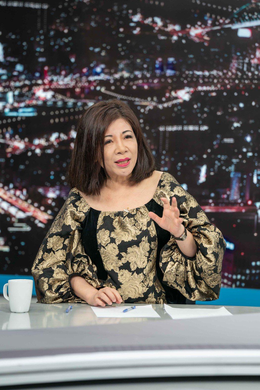 陳文茜上TVBS「少康戰情室」。 圖/TVBS提供