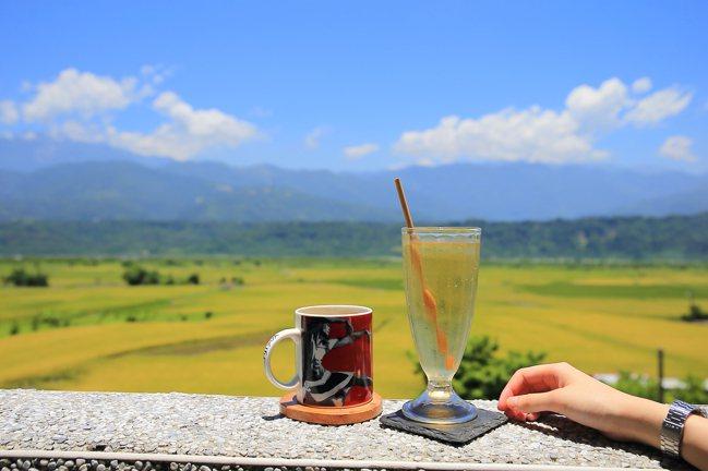 部落皇后的下午茶搭配縱谷美景,適合讓人窩一下午。記者陳睿中/攝影