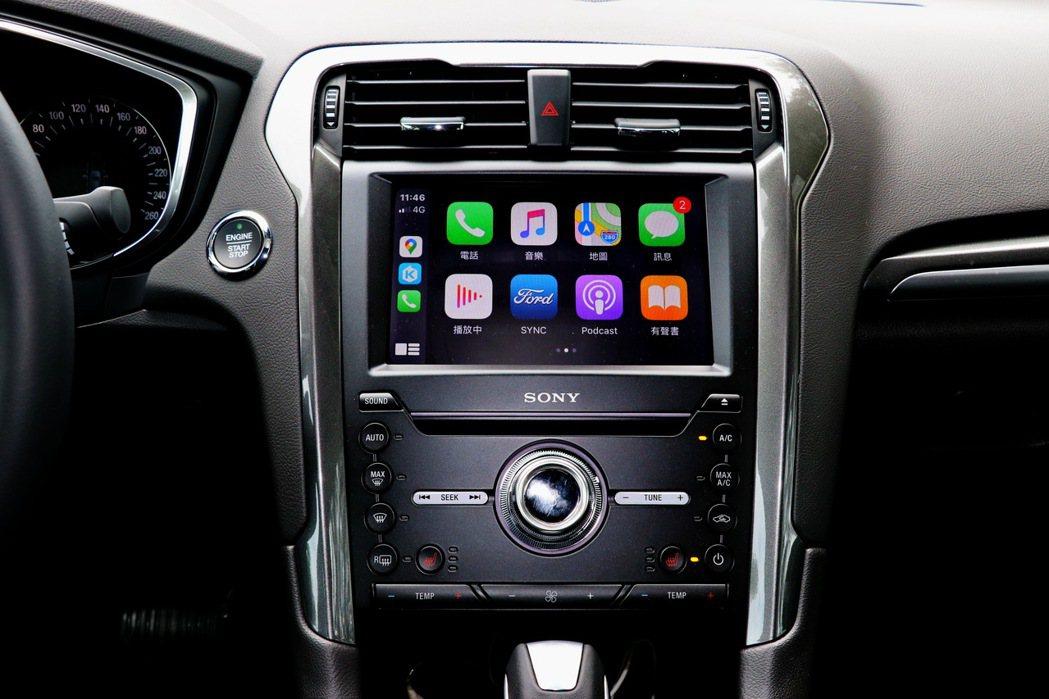 搭載SYNC3娛樂通訊整合系統與8吋LCD彩色觸控螢幕,支援Apple CarP...