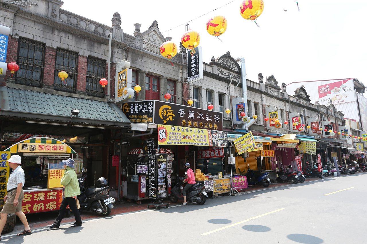 旗山老街十分具有特色。記者劉學聖/攝影 圖/劉學聖 攝影