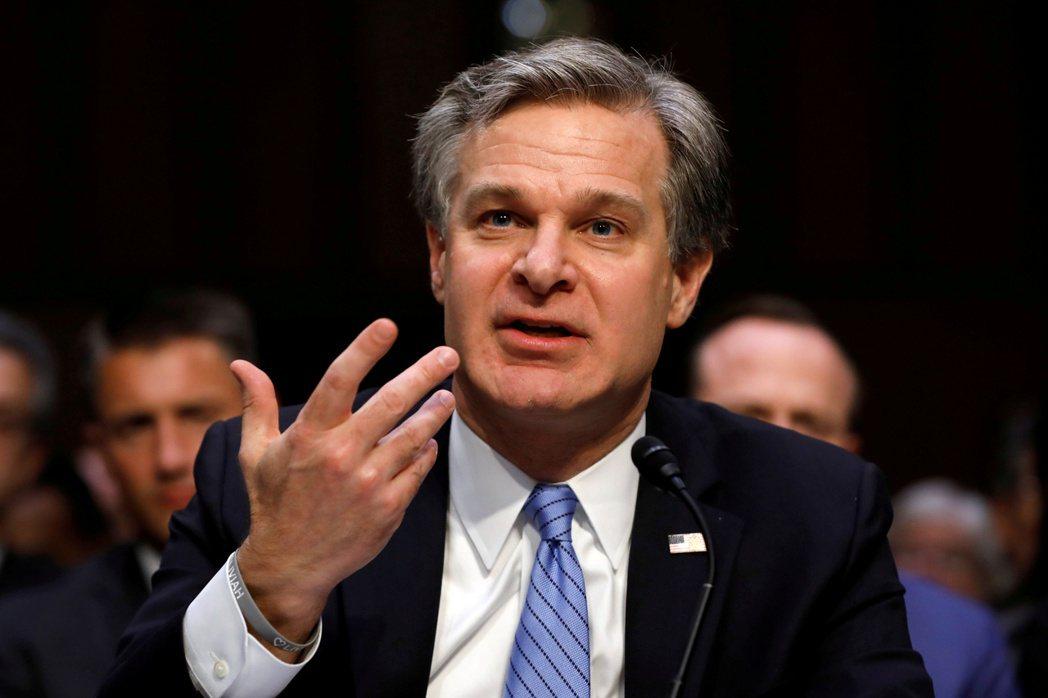美國調查局局長瑞恩指出,中國的經濟競爭方法損害了美國利益。 圖/路透社