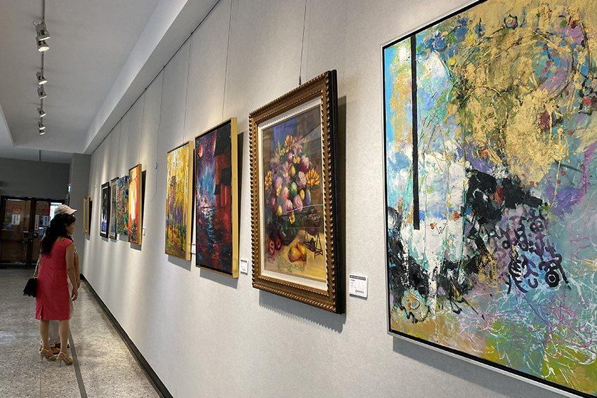 「桃園市美術協會會員年度大展」。 桃園市政府文化局/提供