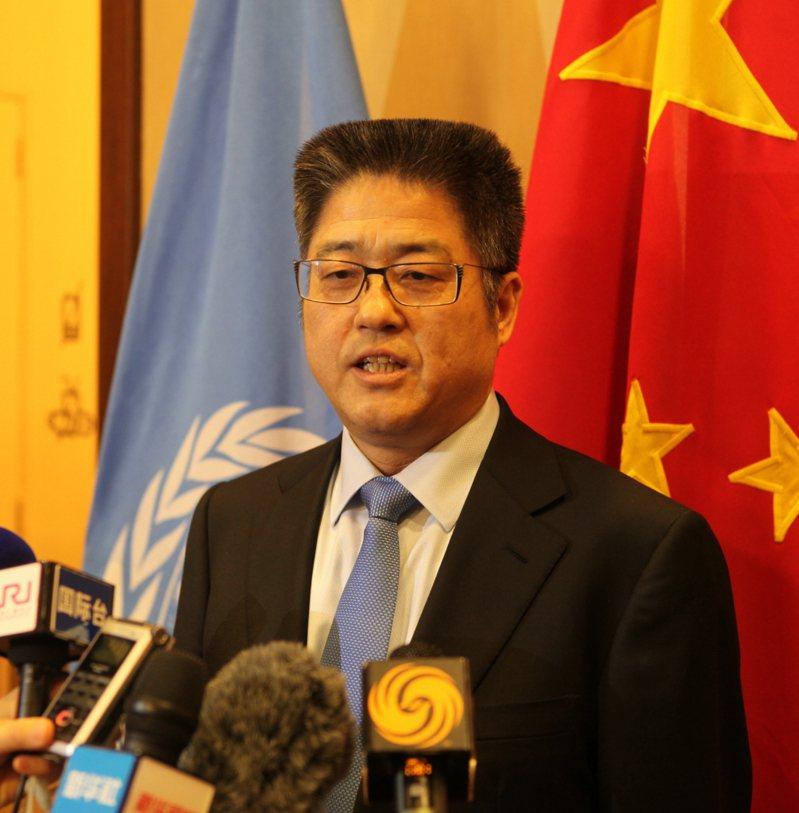 大陸外交部副部長樂玉成。中新社