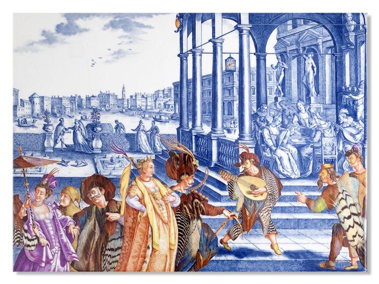 威尼斯風光壁畫。圖/國裕提供