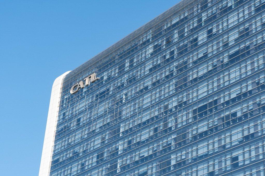 圖為寧德時代位於福建寧德的大樓外觀。路透