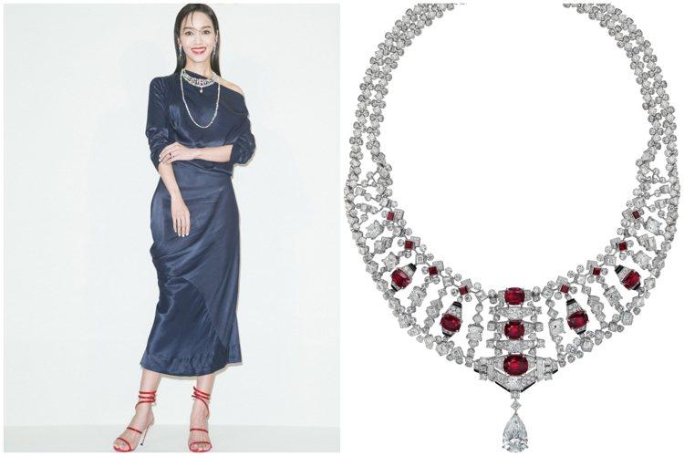 侯佩岑配戴總價約3.6億的頂級珠寶出席卡地亞2020年頂級珠寶展「Une jou...