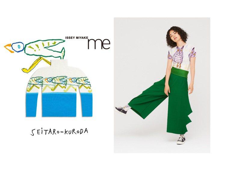 黑田征太郎 x me ISSEY MIYAKE聯名特別系列。圖/me ISSEY...