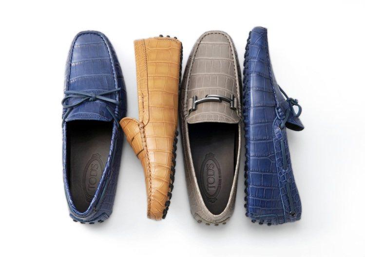 TOD'S頂級鱷魚皮訂製男士豆豆鞋。圖/迪生提供