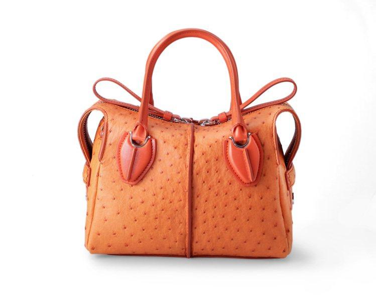 TOD'S台灣限定D-STYLING鴕鳥皮手提包,價格店洽。圖/迪生提供