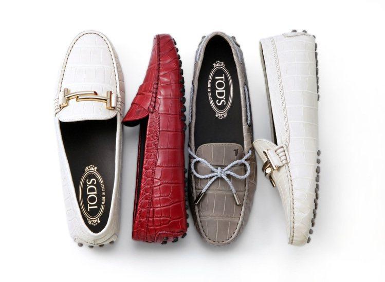 TOD'S頂級鱷魚皮訂製女士豆豆鞋。圖/迪生提供