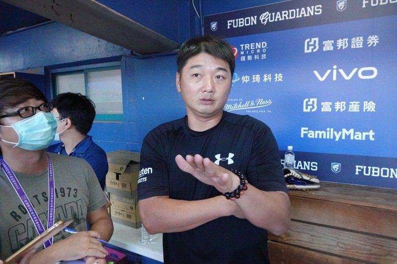 樂天桃猿隊總教練曾豪駒。報系資料照