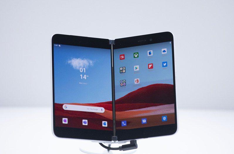 微軟Surface Duo。美聯社