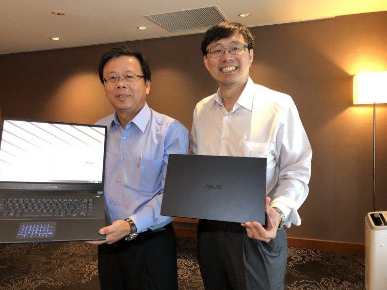 華碩共同執行長胡書賓(左)。(本報系資料庫)