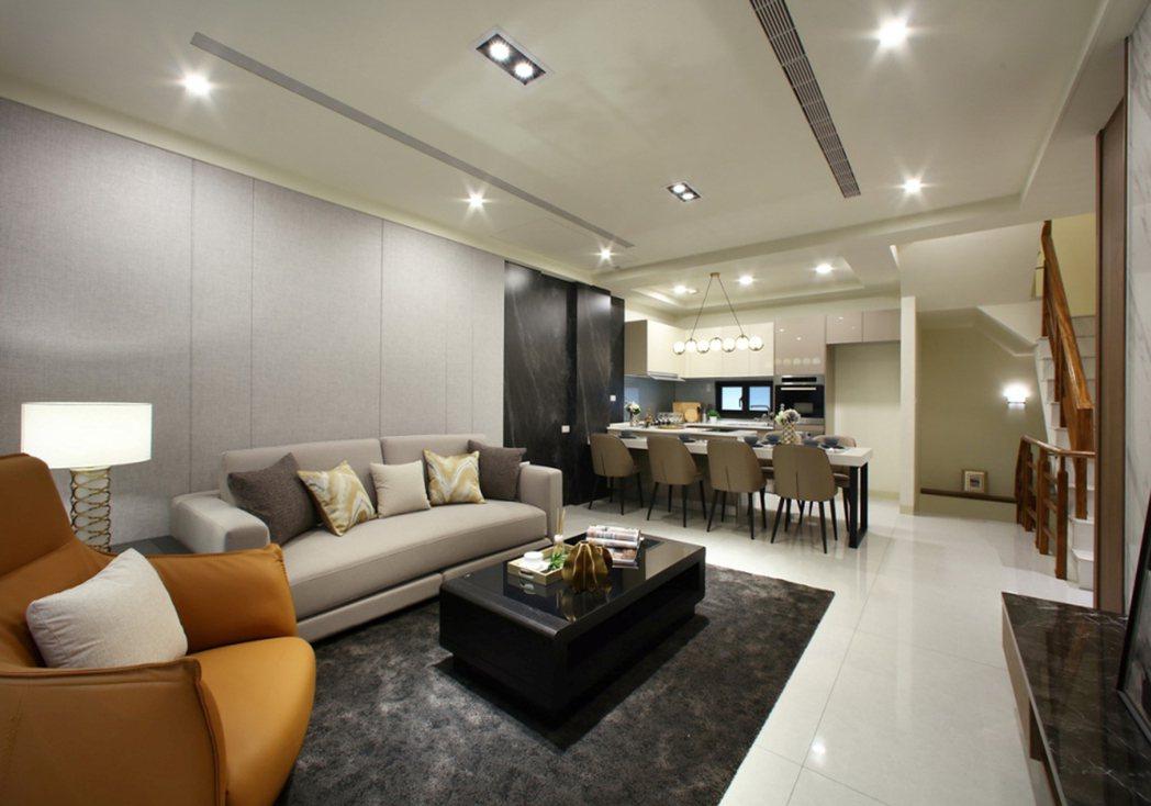 澄湖麗緻-客廳。圖片提供/上揚建設