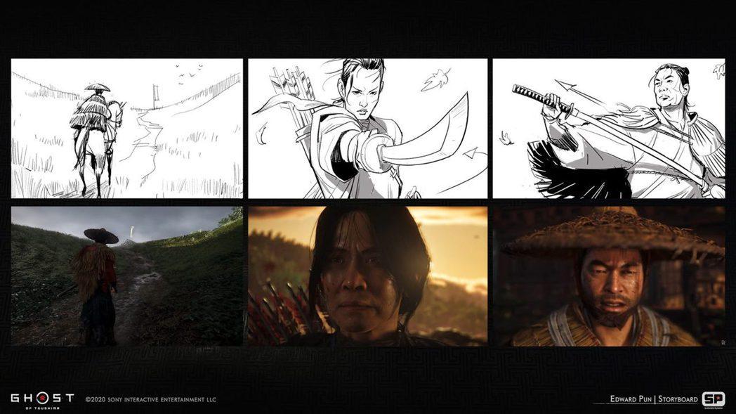 E3預告的分鏡圖(動畫分鏡師 Edward Pun)
