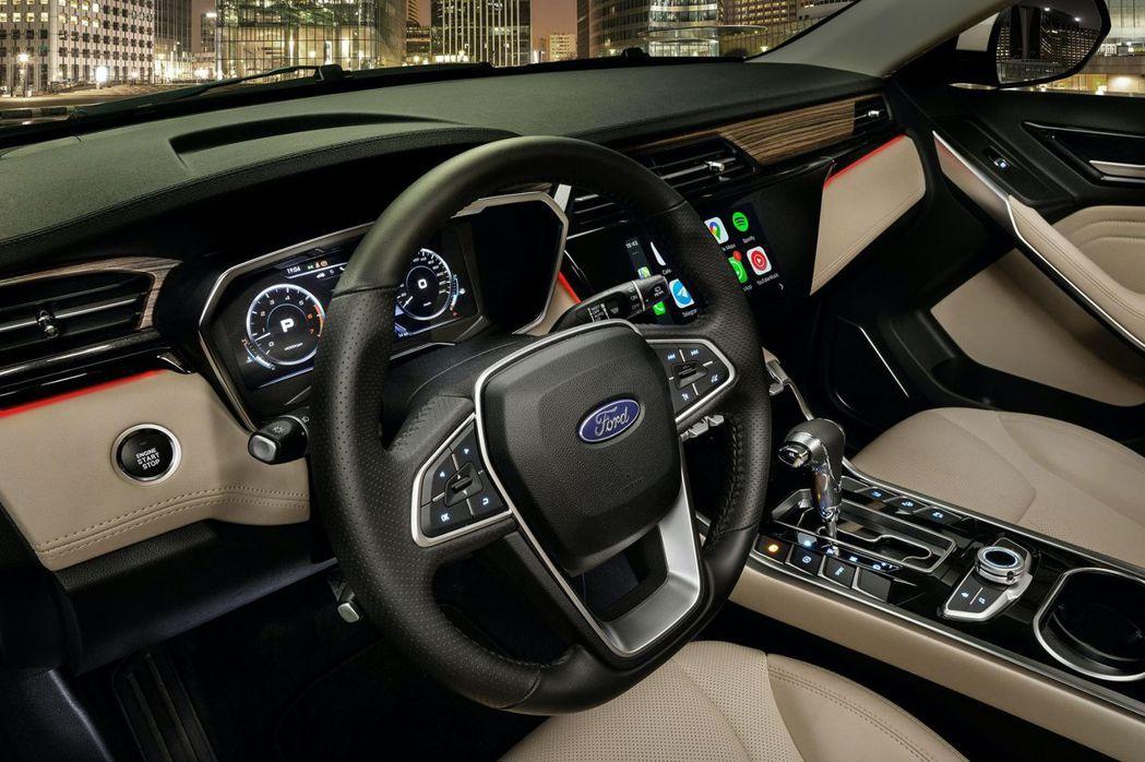 10吋的數位虛擬儀表板也是標準配備。 摘自Ford