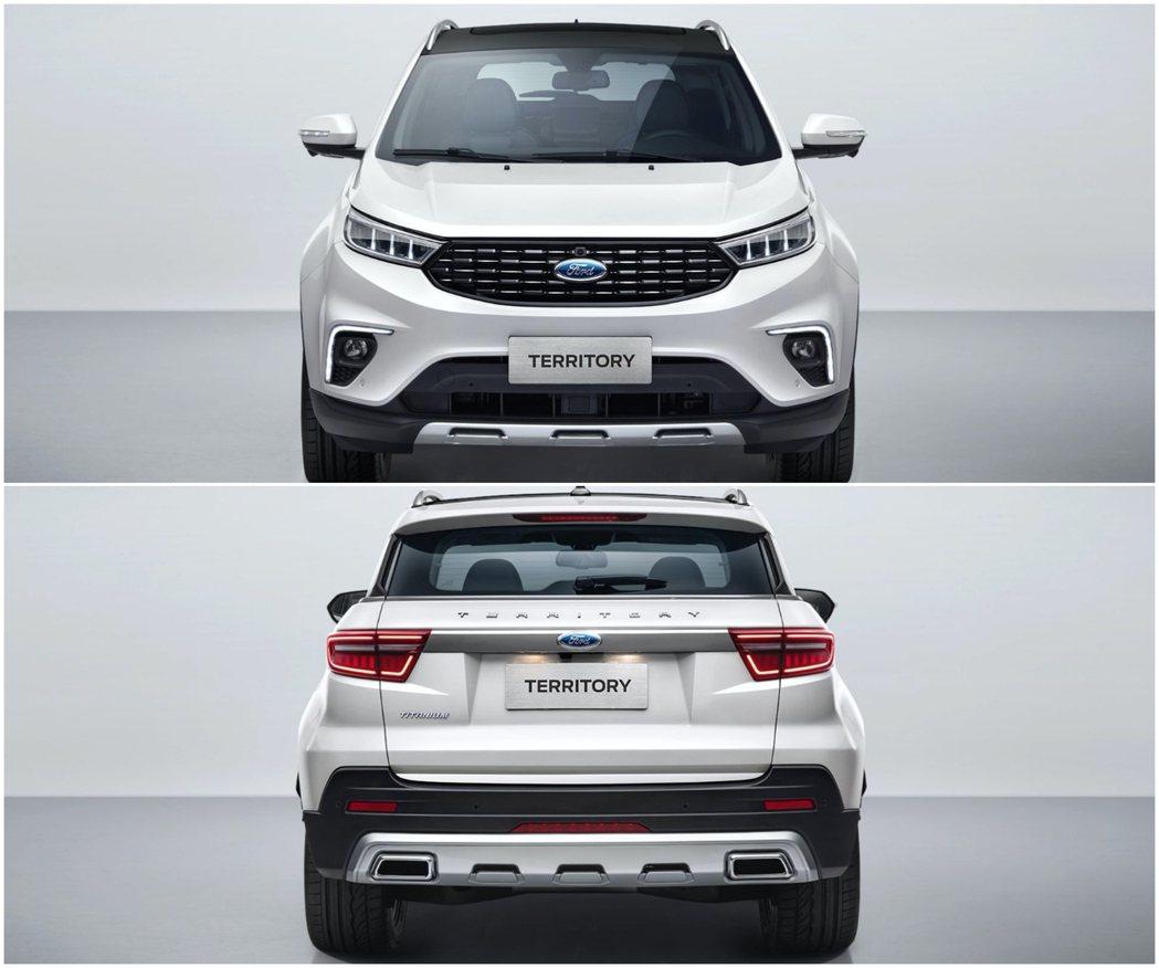 Ford Territory雖然產品定位比Kuga低,但車身尺碼較寬。 摘自Fo...