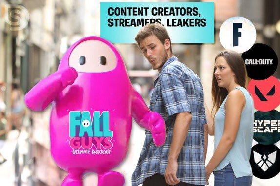 網友製作,網路社群都被《Fall Guys》吸過去了