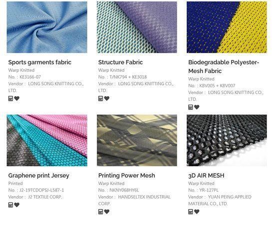 線上型錄系統按展出型態區分為纖維及紗線、布料等七大類供買主參考選購。 紡拓會/提...