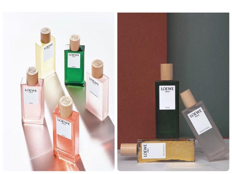 大陸網友點評LOEWE推出彩虹系列香水高顏值、好聞到哭。圖/取自小紅書